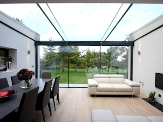 The Garden Room House IQ Glass UK Modern living room Glass White