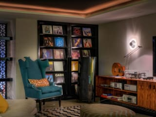 Eclectic style media room by Viterbo Interior design Eclectic