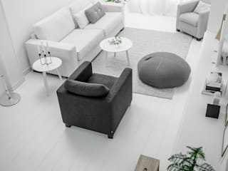 Design Studio Nu Soggiorno in stile scandinavo Bianco