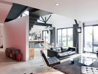 Phòng khách phong cách công nghiệp bởi ATELIER L2 Công nghiệp