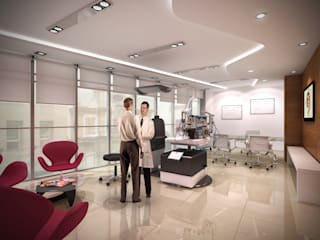 CITO (Centro de Investigaciones y Tratamiento Ocular) Clínicas y consultorios médicos de estilo moderno de Brunzini Arquitectos & Asociados Moderno
