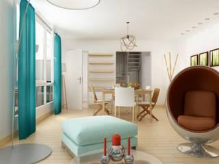 Home staging virtuelle:  de style  par Marque Interieure