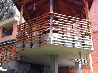 Gazzebo + Terraza B17: Casas de estilo  por Vertice Oficina de Arquitectura, Minimalista