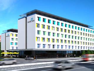 Motel one 3D-Visualisierung Cramer Architektur Design (CAD) Klassische Hotels Marmor Weiß