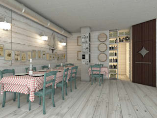 Rustic style gastronomy by Progetto & Render Rustic