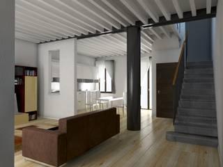 Restauro appartamento A.D. Soggiorno moderno di RBM ASSOCIATI Moderno