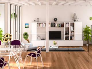 Salones de estilo escandinavo de Jonathan Sabbadini Escandinavo