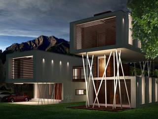 Casa La Calera: Casas de estilo  por Vertice Oficina de Arquitectura, Minimalista