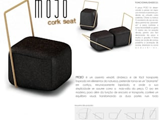 Mojo - Cork Seat:   por ad+r Creative Studio,Moderno