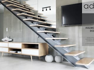 Urban Duplex: Salas de estar  por ad+r Creative Studio,Moderno