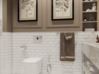 ЖК Речной: Ванные комнаты в . Автор – АРТИДОМ