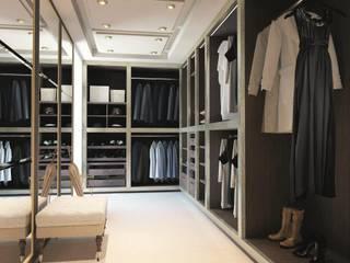 Designer Walk In Wardrobe Bravo London Ltd DormitoriosClósets y cómodas Piel sintética Acabado en madera