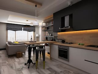 Minimalist kitchen by Ceren Torun Yiğit Minimalist