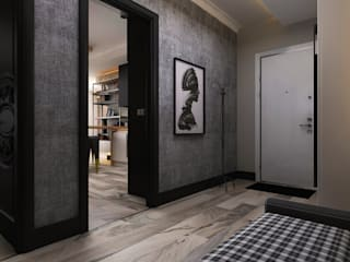Stüdyo Daire Tasarımı Minimalist Koridor, Hol & Merdivenler Ceren Torun Yiğit Minimalist