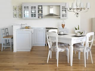 LA BOTTEGA DEL FALEGNAME Kitchen Solid Wood Grey