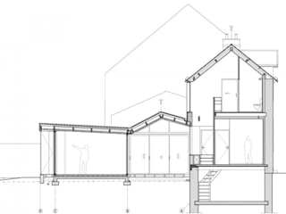 Back in Black - Extension et rénovation d'une maison individuelle par LAUS architectes Moderne