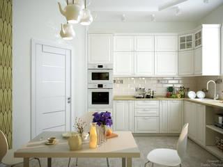 Skandinavische Küchen von Студия интерьерного дизайна happy.design Skandinavisch