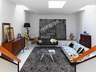 Pascoe Interiors London townhouse designed in mid century style Eclectic style living room by niche pr Eclectic