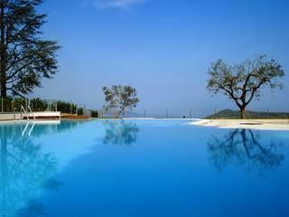 Villa Degli Arieti: Piscina in stile  di Studio d'architettura associato f.g.i. Visconti