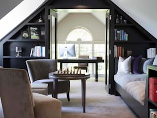 Oxshott family residence Eclectic style study/office by niche pr Eclectic