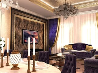 Eclectic style living room by Студия Маликова Eclectic