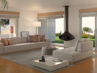 Sala de Estar: Salas de estar  por Miguel Ferreira Arquitectos