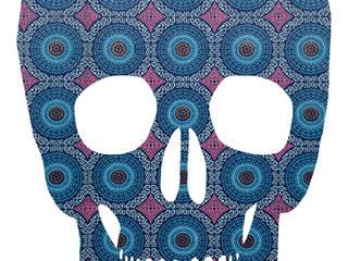 Skull Original Retro Wallpaper Silhouette van MOoink Eclectisch
