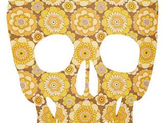 Skull Original Retro Wallpaper Silhouette:   door MOoink