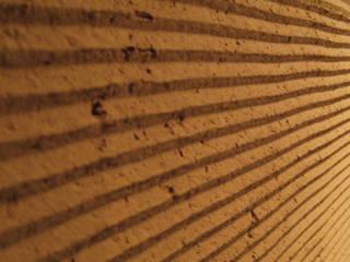 かわらかべ 瓦骨材利用塗り壁材: 株式会社エコシステムが手掛けたアジア人です。,和風