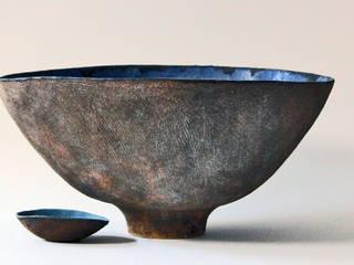 Cerámicas azules de Silvia Valentín Cerámica Minimalista
