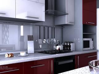 Proyectos Interiorismo Cocinas modernas de Seven Arquitectos Moderno