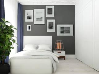 Dormitorios de estilo moderno de Urządzamy pod klucz Moderno