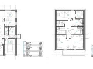 DOM 'OPTYMALNY': styl , w kategorii  zaprojektowany przez DOKTOR ARCHITEKCI