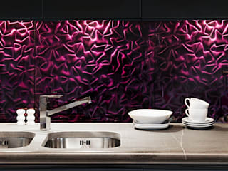 Deeco Modern style kitchen Glass Purple/Violet
