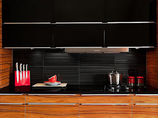 Deeco Modern style kitchen Glass Black