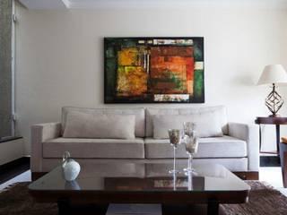 Interiores: Salas de estar  por  ERIKA ROSSI ARQUITETURA E INTERIORES