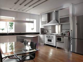 Cocina semi industrial minimalista Patagon Chef W45:  de estilo  por Patagon Chef