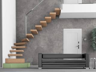 Progettazione di una scala per interni: Ingresso & Corridoio in stile  di Progetto & Render