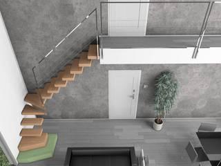 Minimalist corridor, hallway & stairs by Progetto & Render Minimalist