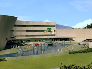 Centro Cultural Walter Peracchi de  Barcellos: Centros de congressos  por Marisol Réquia Arquitetura,