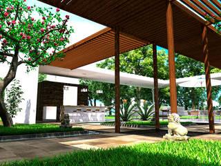 CASA BUSTAMANTE Balcones y terrazas de estilo moderno de Lápiz De Sueños Moderno