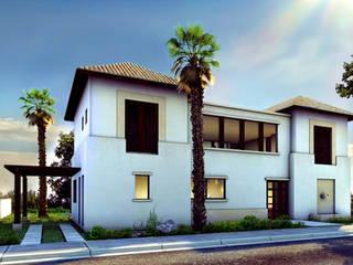 Casa Yucatan Country Club Casas rústicas de Boué Arquitectos Rústico
