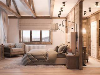 Спальная в стиле шале: Спальни в . Автор – Шабалин Александр