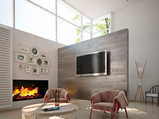 N-3d / arquitectura digital: Salas de estilo moderno por N-3D / ARQUITECTURA DIGITAL