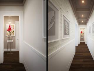 隨意取材風玄關、階梯與走廊 根據 KYD BURO 隨意取材風