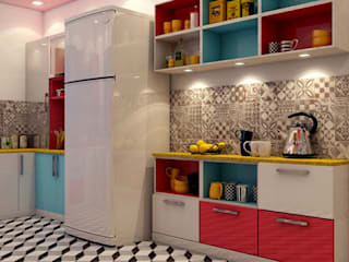 Kitchen Design (Fridge Area) Creazione Interiors