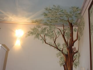 pareti albero: Pareti in stile  di artivisibili