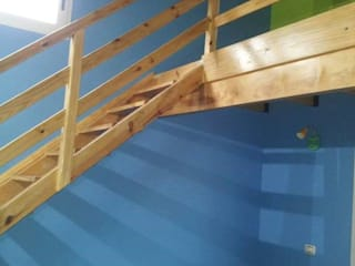 Obra Gomez: Pasillos y recibidores de estilo  por RG construcción + diseño