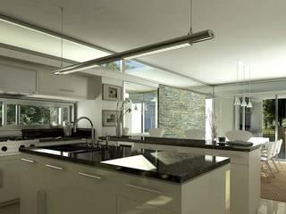 Modern kitchen by AMADO arquitectos Modern