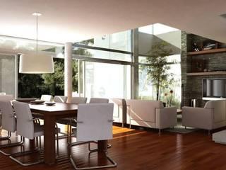 Modern dining room by AMADO arquitectos Modern